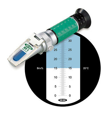 HANDHELD REFRACTOMETER BX-1 BRIX RANGE 0 - 32 Degrees