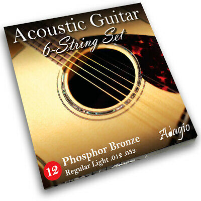 Adagio Pro Acoustic Guitar Strings Full Set/Pack - Gauge 12-52 Phosphor Bronze
