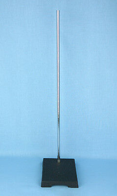 9 Base Length x 6 Base Width United Scientific SSB6X9-H2 Two Hole Support Stand with Rod