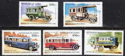 Guinea 1995 Historic Buses Set Mint  Complete - $5.80 Value!
