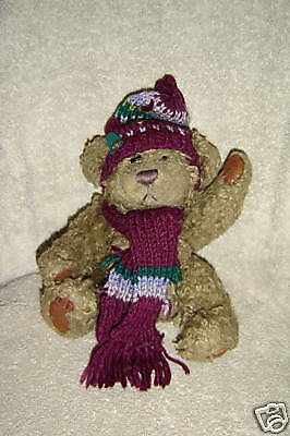 "Brass Button Bear 10"" Tall ~  F8"