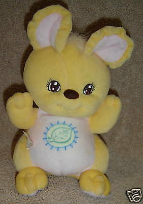 "Fisher Price 1988 Plush Bunny Rattle  7"" Tall ~ U21"