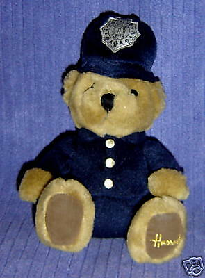 Harrods Knightsbridge Uk Police Bobby Teddy Bear ~V14
