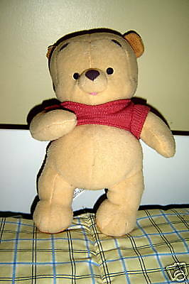 "Mattel/disney ~ ""baby Pooh"" Plush Rattle Toy ~ O#12"