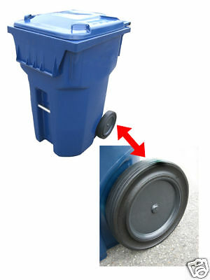 "Roll-Tech 10"" Rubber Tread Garbage / Trash Can / Waste Container / Cart Wheel"