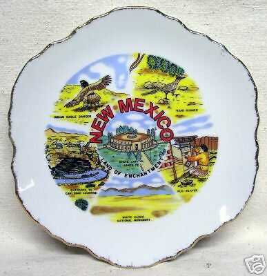 """Collector Plate New Mexico Land of Enchantment 7 3/8"""""""