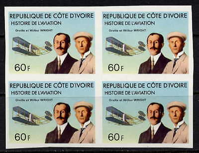 Rare Wright Brothers - Aviation Mint Imperforate Block!
