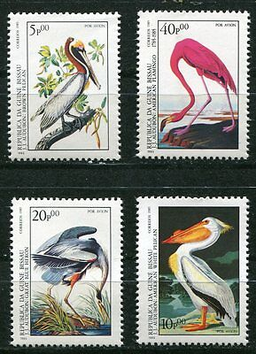 Beautiful 1985  Audubon Bird Stamps - Mint Complete Set From Guinea-Bissau!