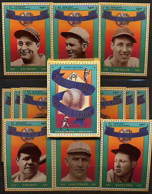 Saint Vincent 1992  Hall Of Fame Baseball Card - Babe Ruth Mint Complete Set!