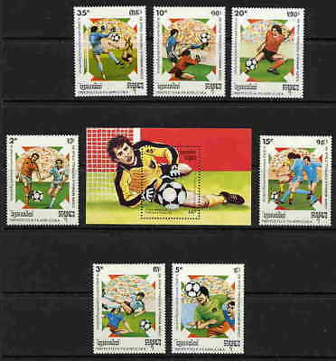 Cambodia World Cup Soccer - Italy Stamps - Set & Sheet!