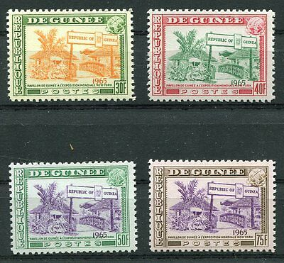 Guinea 1965 New York World's Fair Stamps - Mint Never Hinged Complete Set!