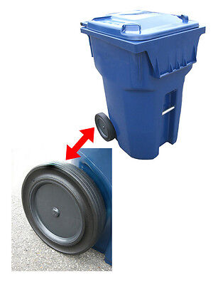 """Roll-Tech 12"""" Rubber Tread Garbage / Trash Can / Waste Container / Cart Wheel"""