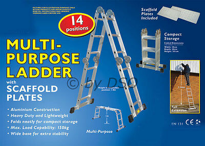 14 in 1 Multi-Purpose Ladder with Scaffold plates - NEW