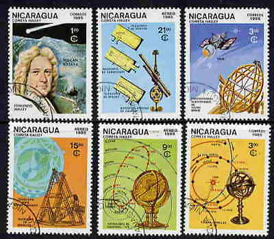 Nicaragua 1985 Astronomy Stamps - Complete Set Of Six!