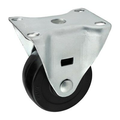 """80/20 Inc 10, 15 Series 3"""" Rubber Flanged Mount Swivel Caster Part #2312 N"""