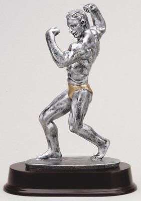 Male Body Builder  Building Sculpture Award Trophy