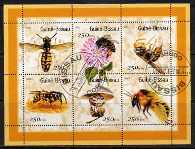 Guinea Bissau 2001 Bees - Complete Set Of Six Stamps!