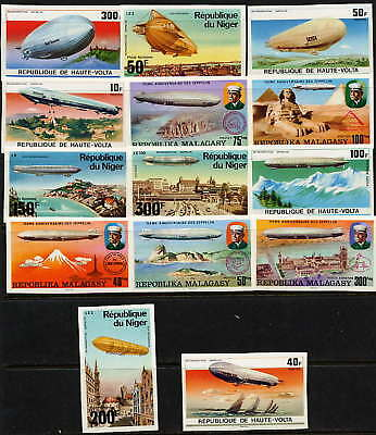 Fine Collection Of Very Rare Mint Zeppelin Imperfs!!!!