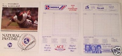 Chicago Whtie Sox / Brewers Official 1986 Scorecard