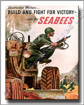 US Navy Join the Seabees WWII Canvas Print 2D