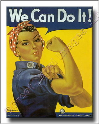 Vintage World War II We Can Do It  Canvas Print WWII 2D