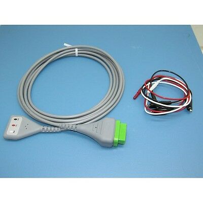 New 3 Lead EKG Cable W/ Alligator Leads For GE ~ Eagle