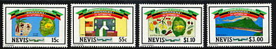 Nevis 1984 Independence Mint Complete Set Of 4 Stamps!