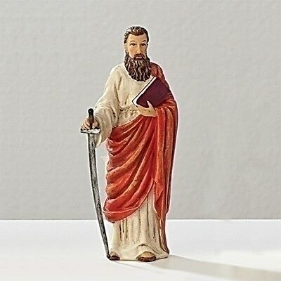 Statue St Paul 3.5 inch Painted Resin Figurine Patron Saint Catholic Card Boxed