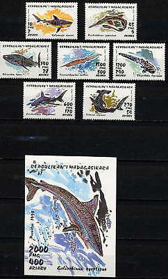 Malagasy 1993 Sharks Set And Sheet Mint Complete!