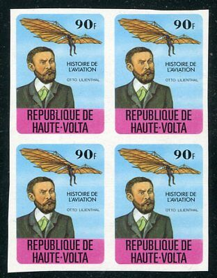 Rare Aviation - Otto Lillenthal Imperforate Block Of 4!