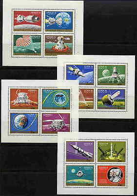 Hungary 1970 Moon Flights - Space Exploration Stamps - Mint Complete Set Of 16!