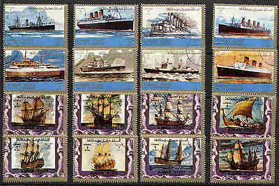 Magnificent Set Of 16 Ancient And Modern Ships Complete