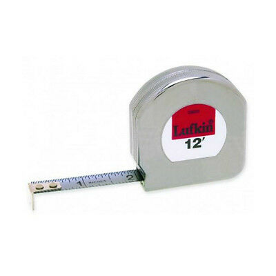 """LUFKIN 12ft Measuring Tape 1/2"""" Wide, Chrome Clad - Brand New"""