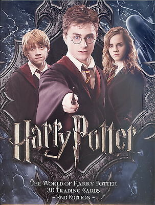 Harry Potter The World Of 3D Series 2 2008 Artbox Trading Card Album Binder
