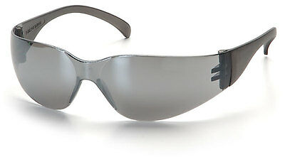 6 Pair 1700 Series Silver Mirror Lens Safety Glasses