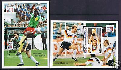 Dominica 1994 World Cup Football MS SG1738 MNH