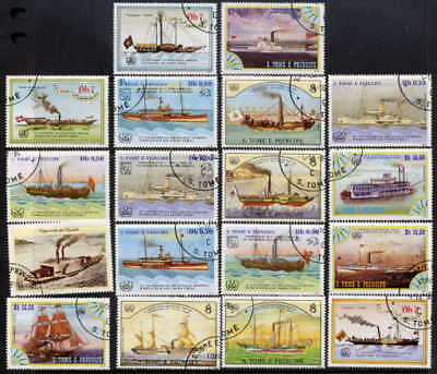 Saint Thomas 1984 Ships Complete Set Of Eighteen Stamps