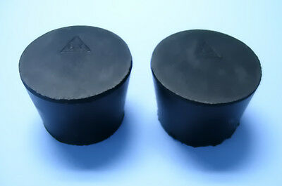 Size 6.5 Black Rubber Stoppers  (Count 2)