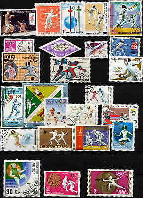 Fantastic Fencing Topical Stamp Collection!!!