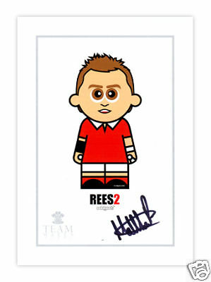 ODDGODS Rees2 originally signed Welsh Rugby print