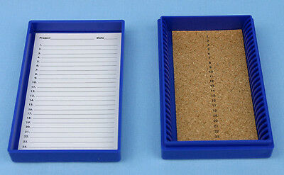 25 Place Cork Lined Microscope Slide Box