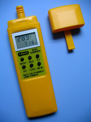 DIGITAL PSYCHROMETER with WET BULB / THERMO-HYGROMETER