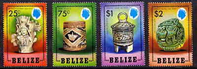 Belize 1984 Mayan Artifacts Mint Complete Set Of Four!