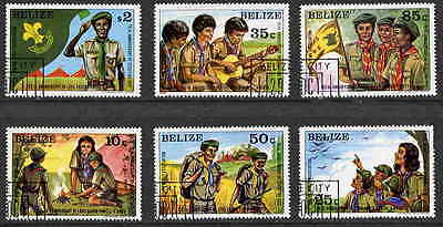 Belize 1982 Boy Scouts - Scouting Stamps - Complete Set Of 6 Stamps!