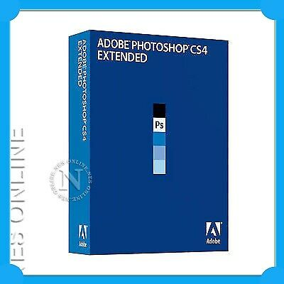 Adobe PhotoShop CS4 Extended for WIN FULL Retail CS 4
