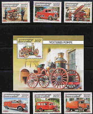 Cambodia 2001  Fire Fighting & Rescue Equipment Mint Stamps - $11 Value!!