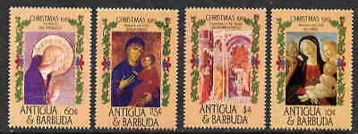 Antigua 1985 Christmas Painting Stamps - Mint Complete Set -  $4.35 Value!