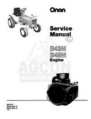 ONAN B43M / B48M Engine Service Shop Repair Manual