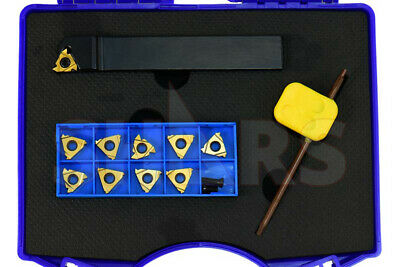 "SHARS 12 Pc 3/4"" UN EXTERNAL INDEXABLE THREADING TOOL HOLDER INSERTS SET NEW"