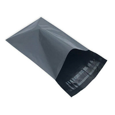"""100 Grey 10"""" x 14"""" Mailing Postage Postal Mail Bags"""